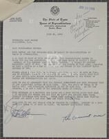 Correspondence with a Texas state legislator regarding redistricting