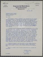 Correspondence regarding proposed legislation