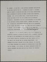 Annotated speech draft regarding supersonic transport investment, undated