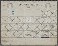 Appointment calendar, November 1963