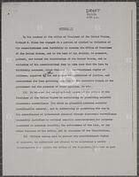 Article II, Draft, July 27, 1974