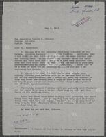 Correspondence with Lyndon B. Johnson regarding helicopter, 1969