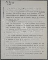 Brooks statement, Judiciary Committee, July 29, 1974