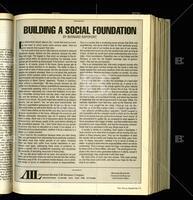 """Building a Social Foundation"""
